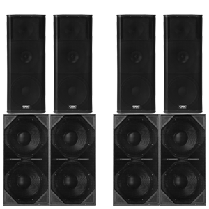 3-way Speakers with Bassmaxx Subwoofers